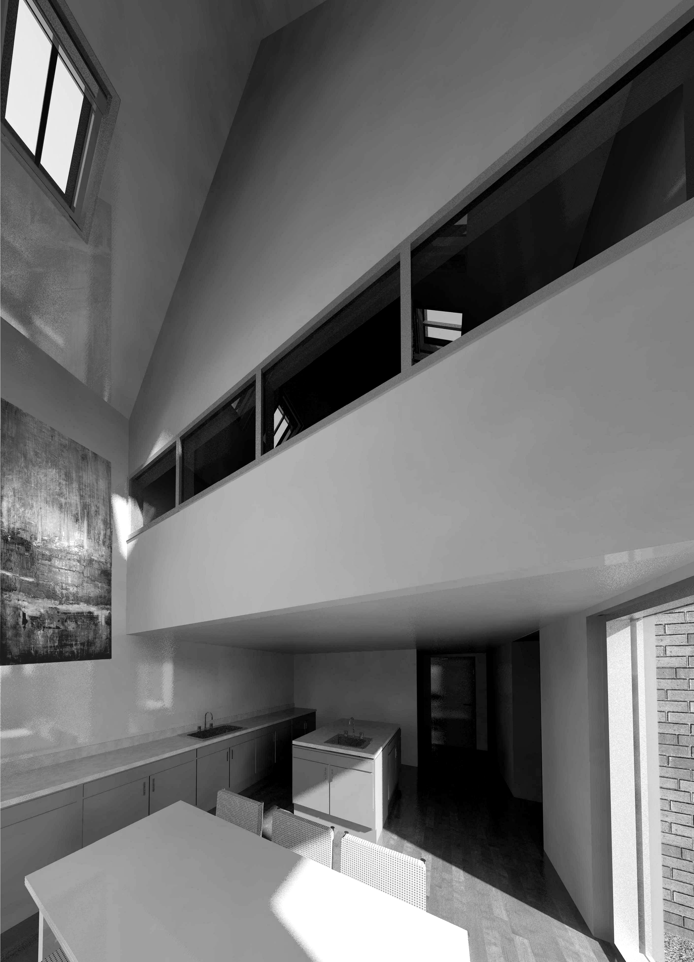 Double height house extension
