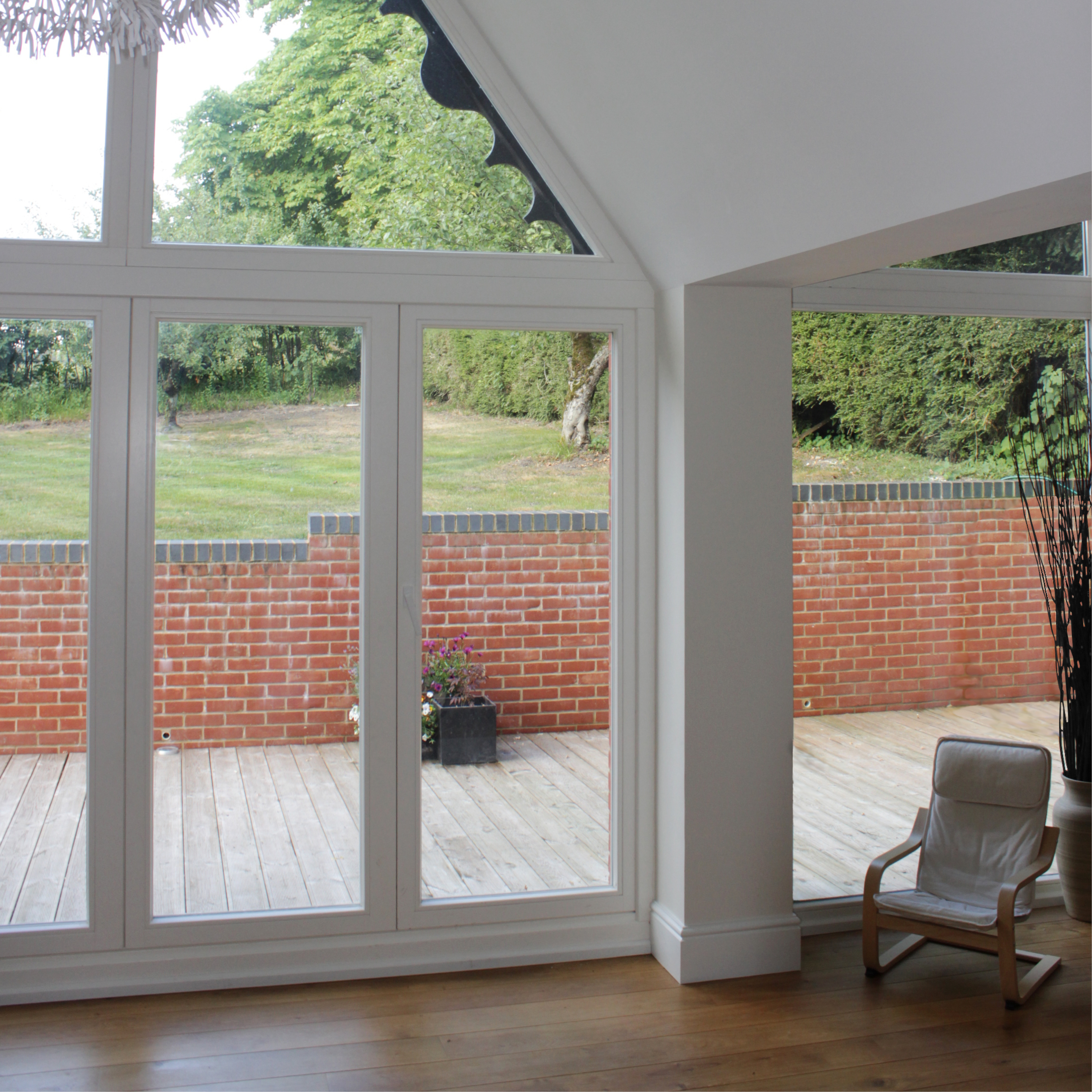Contemporary Extension to Victorian Lodge House.