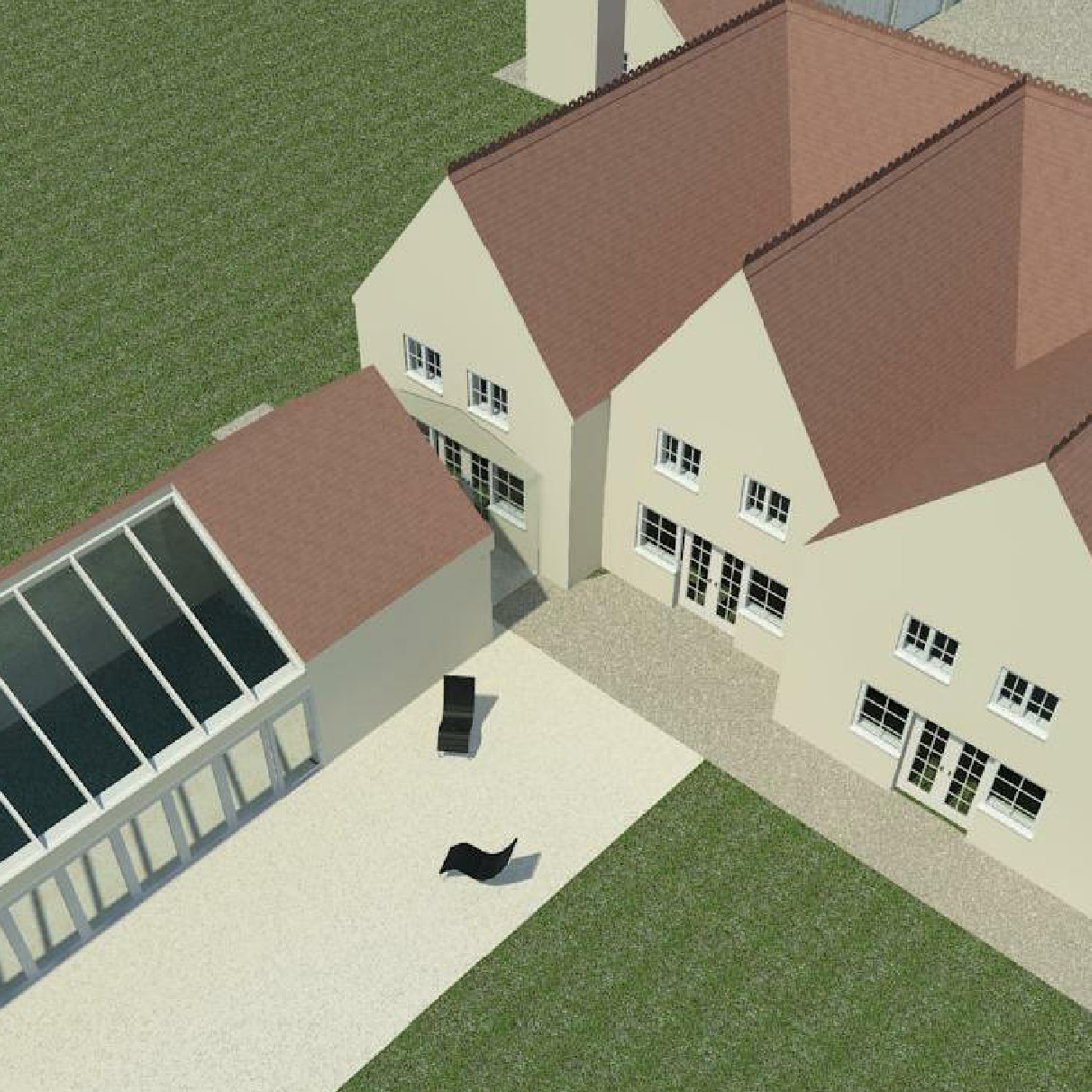 House Extension, Swimming Pool and Heated Garage.