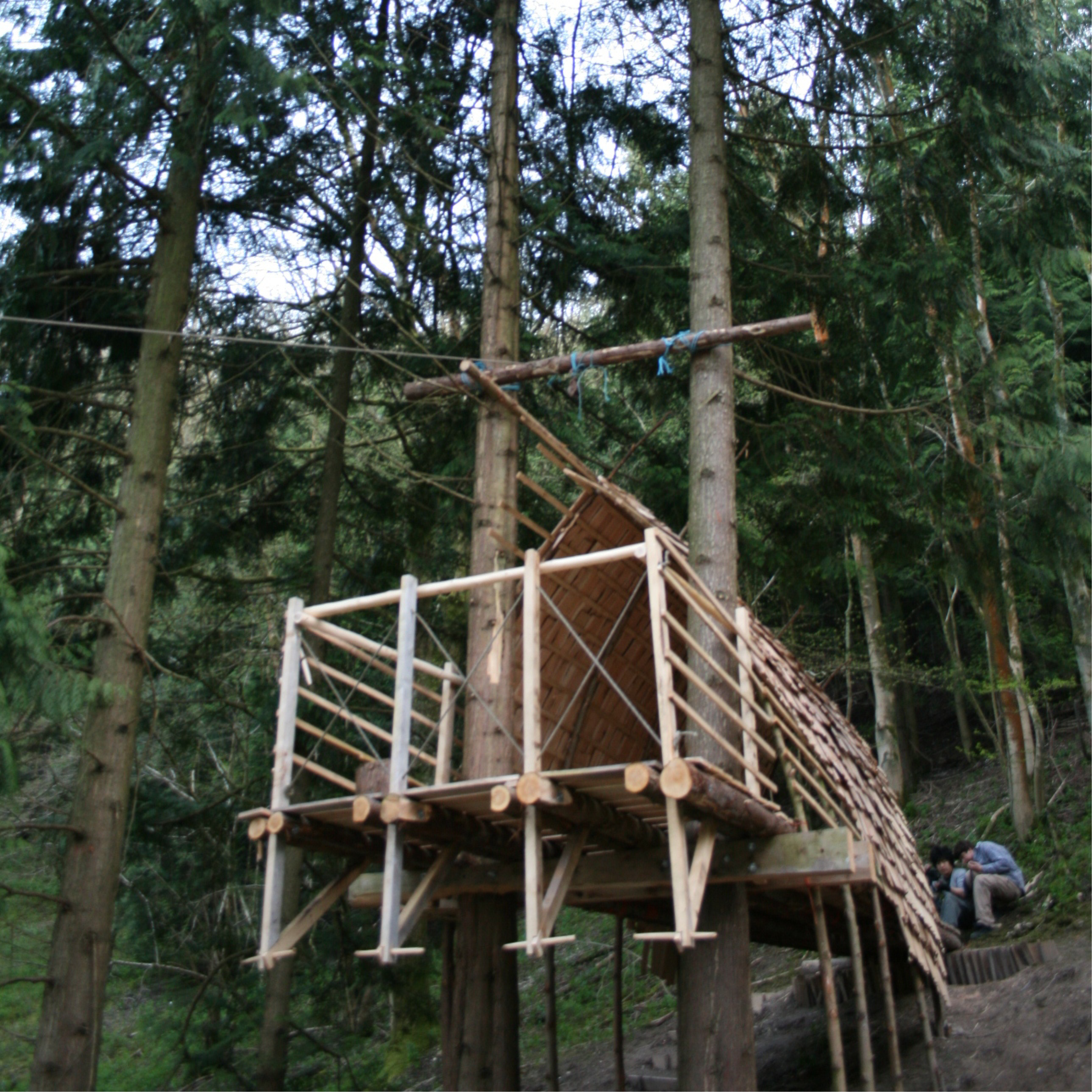 Treehouse den in Petersfield. Architecture treehouse.
